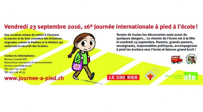 Journée internationale à pied à l'école